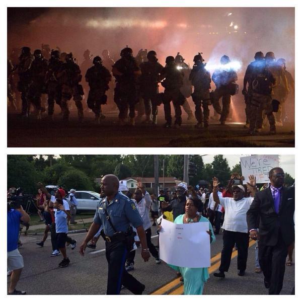 Interesting turn of events in 24hrs. #Ferguson http://t.co/ZP7Zi4M1eR