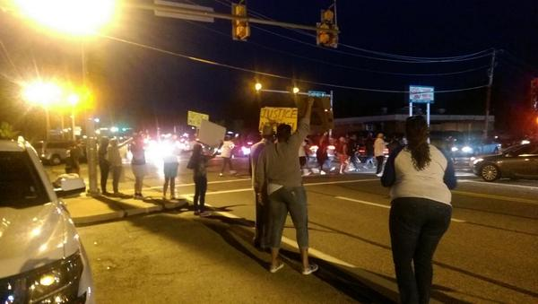 Much different scene in #Ferguson http://t.co/9gpYB5n2FG