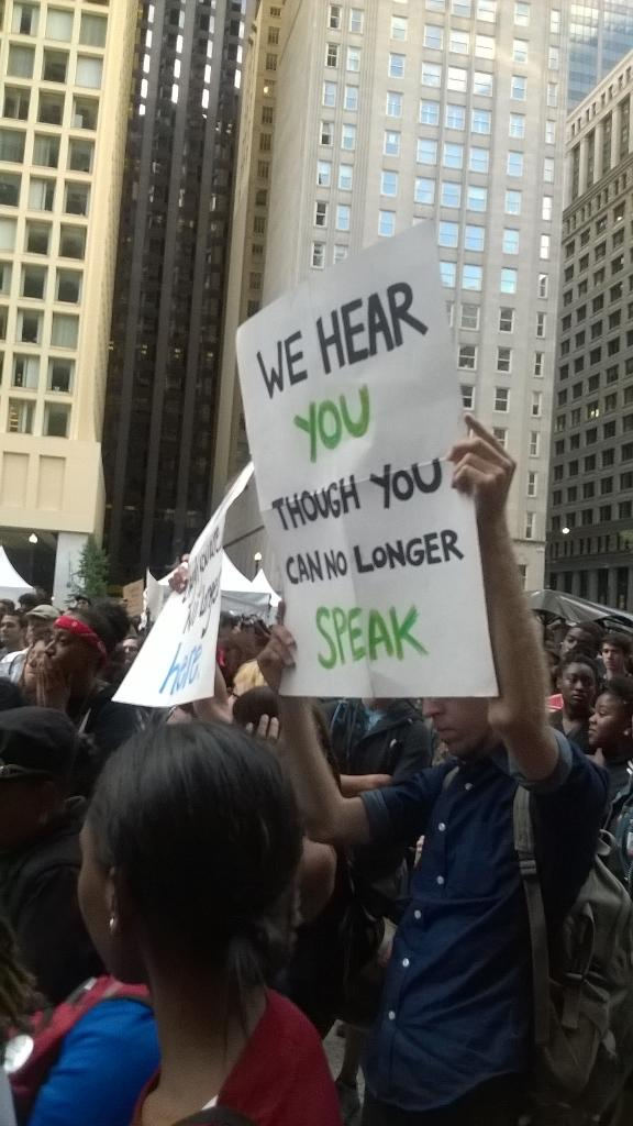 We hear you... #Ferguson #Chicago #nmos14 http://t.co/Xaba2vpPEY