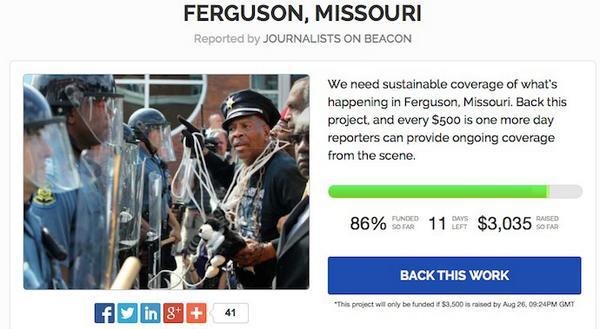 #StartUps #Beacon Is Crowdfunding Journalism In #Ferguson, #Missouri http://t.co/BjxjJKN69j http://t.co/ydgleDw14i