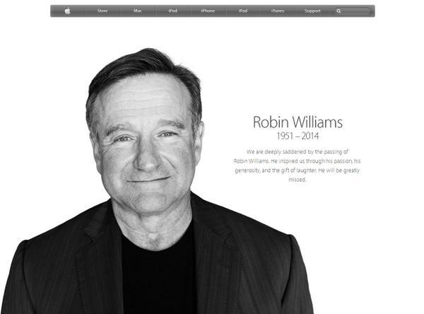 대기업의 홈페이지에 작고한 유명배우(로빈윌리암스)의 사진을 즉시 전면에 올릴 수 있는 기업은 지구상에 거의 없다. 때문에 그것이 가능한 Apple은 소비자로부터 종교처럼 신봉받는 브랜드가 되었다. http://t.co/WUWLfbrvPY