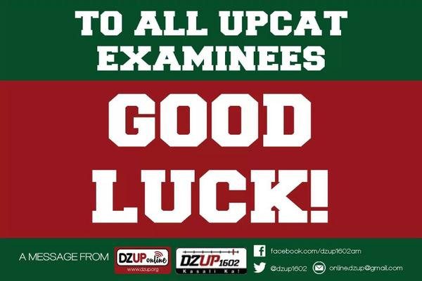 """A message to #UPCAT takers from @dzup1602: """"MAY THE ODDS BE EVER IN YOUR FAVOR."""" https://t.co/4AAti9aKIZ http://t.co/hTDz5FLYdc"""