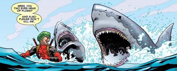Image result for deadpool sharks