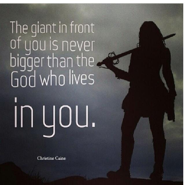 "Christine Caine On Twitter: ""The Giant Standing In Front"