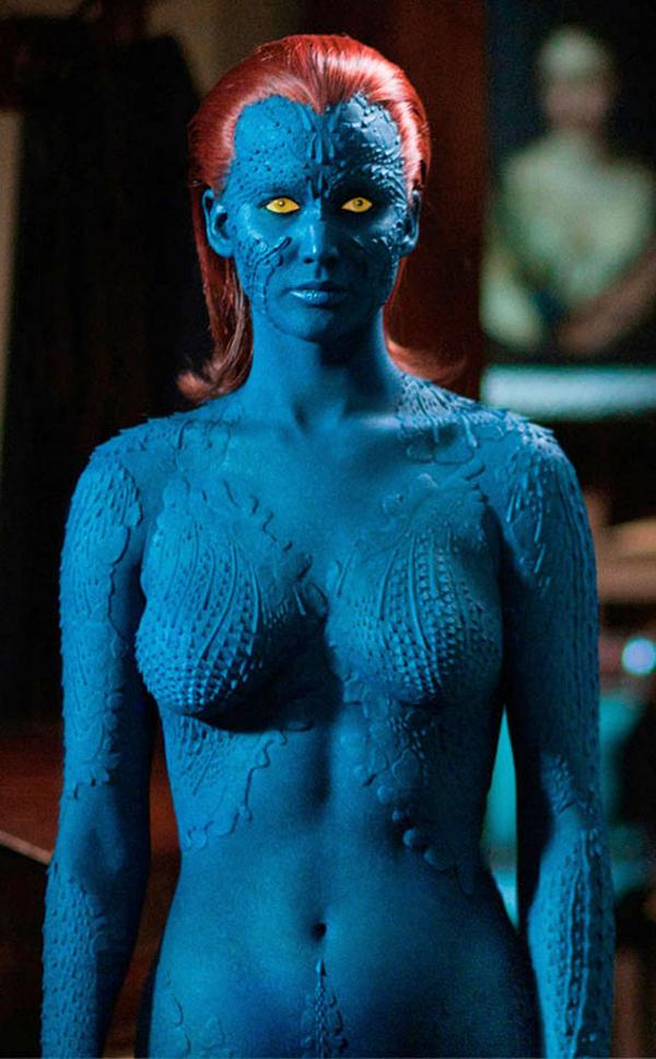 Because she also kicks ass as mystique in the x-men movies. check out more  sexy superheroes: - scoopnest.com