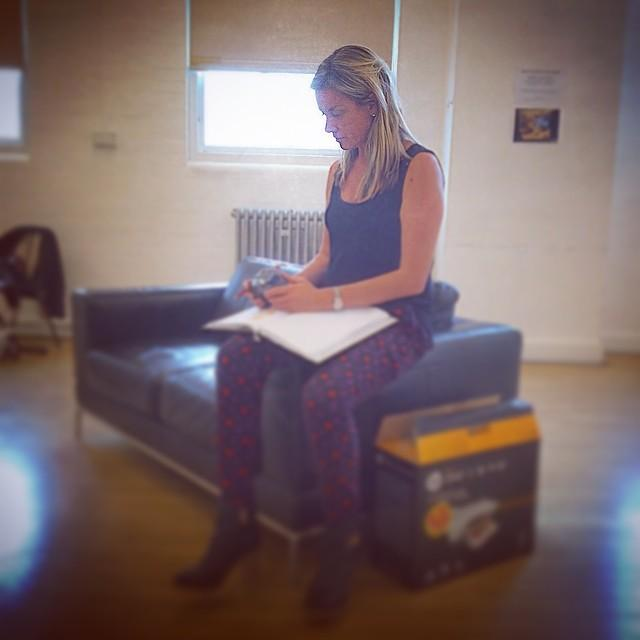 RT @BreedersPlay: Our lovely @mouthwaite studies her lines at @BreedersPlay rehearsals! Fine snap-taking from @Angela_Griffin. http://t.co/…