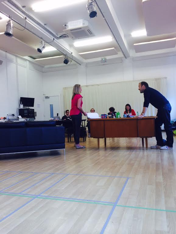 RT @BreedersPlay: *REHEARSAL ACTION SHOT* @mouthwaite and @NicheBurns doing a bit of the old acting. http://t.co/X3cskbaJpq