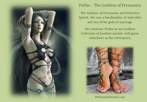 "Barefoot Sandal Babe on Twitter: ""We're celebrating #Peitho, the #Goddess  of Persuasion and Seductive Speech. #Celebrate your inner goddess!  http://t.co/oXHdQ0B0Hz"""