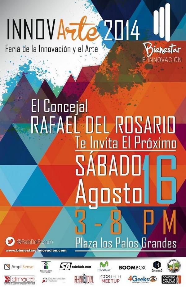 Mañana el equipo de @codigoabierto estará en el evento #innova en la @FeriaLPG en el stand de @aguamiell 3 a 6 PM http://t.co/ZSniYdP1u3