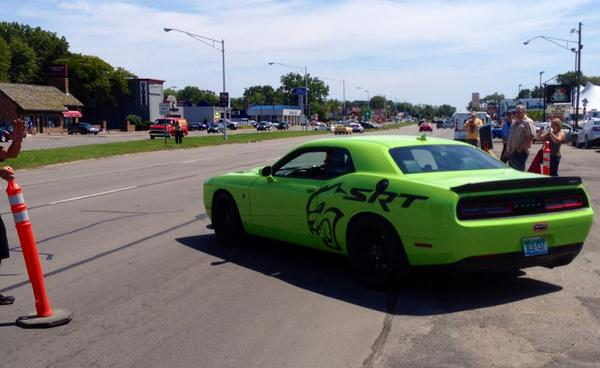 Look for @RRRawlings from @GasMonkeyGarage cruisin in a lime green #2015DodgeChalllenger #SRT #Hellcat  #WDC http://t.co/LeKTNy4iRL