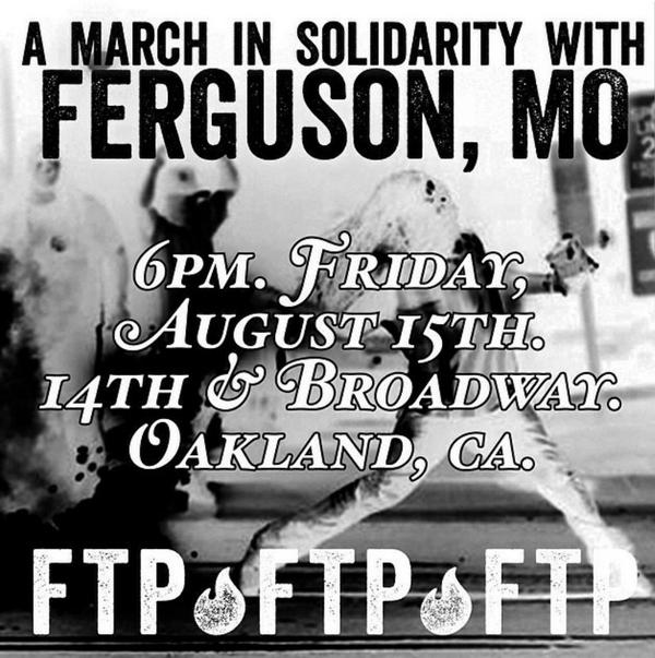Tonight #Oakland March in #Solidarity w/ #Ferguson Meet at 14th&broad @6pm #MikeBrown http://t.co/32LLYDrOLr via  @melski_yo
