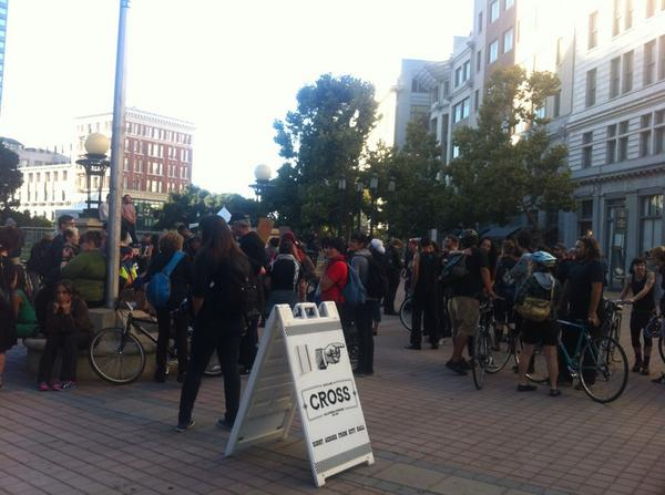 Choppers. Police. Young white folks in black. I think something is going to happen in #Oakland http://t.co/DCQoiL1GfY