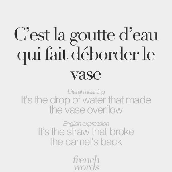 French words on twitter learn a new french idiom c 39 est la g - Chauffe eau qui goutte ...