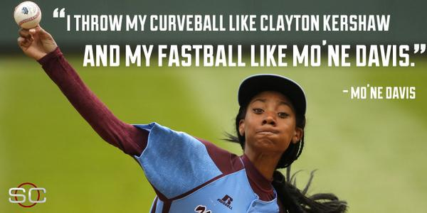 When asked to compare herself to major leaguers, Mo'Ne Davis shows she has style all her own. http://t.co/plsozzdsUP http://t.co/FmGaSOGnDJ