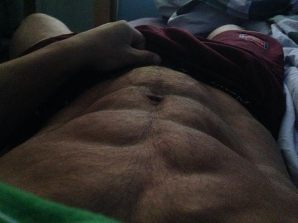 onur hasan on twitter morning abs looks like its popping out 8days