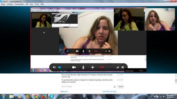 видеочат по скайпу с похотливой женщиной попить