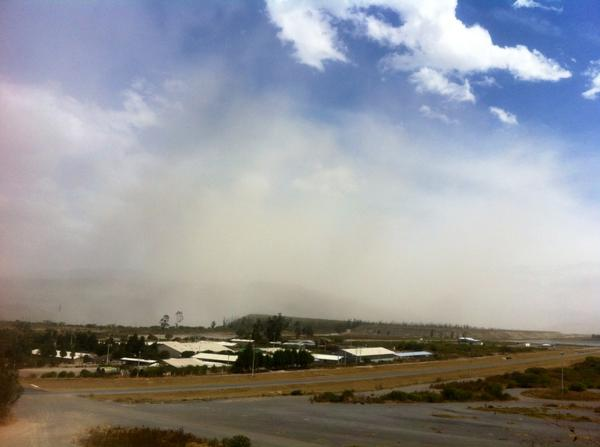 Nube de polvo en la zona de Collas