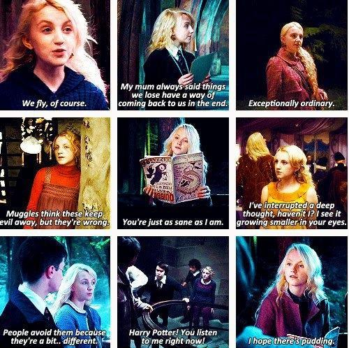 Luna Lovegood Quotes Custom Harry Potter World On Twitter Luna Lovegood Quotes