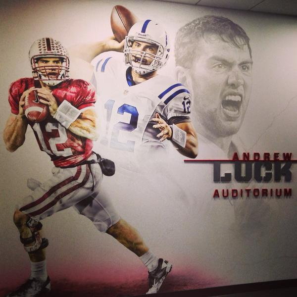 The coolest part of @StanfordFball #AndrewLuck auditorium is that he didn't ask them to name it after him. #humility http://t.co/FkDEWO5kTd