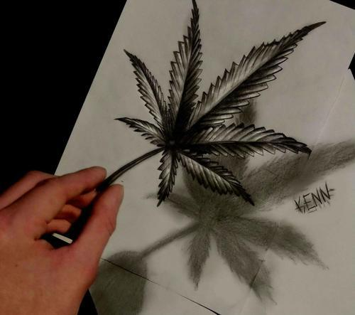 Dibujos Locos on Twitter Hoja de marihuana dibujada por Kenn
