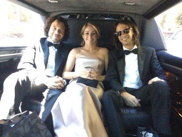 Congrats on your win Sean & Andrea!  You look AMAZING! @FineFilms On our way! #emmys #hbo #lifeaccordingtosam #fb http://t.co/06hSJCS1aB