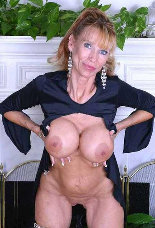 Granny Fake Tits Black
