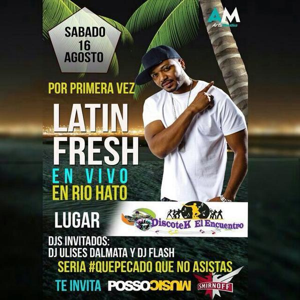 Esta noche, ya boy en Vivo en Rio Hato, Discoteca El Encuentro Bomba y Plena!! @PossoMusic @UrbanCityClub http://t.co/jBNb2Hpy45
