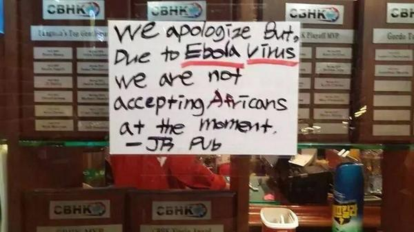 "Wow! RT @MrBasabose: ""... due to #Ebola virus we are not accepting #Africa-ns..."" #SouthKorea http://t.co/smmQdZrDlr"