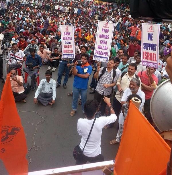 What beautiful people! RT @Abhina_Prakash Pro-Israel rally in Kolkata, India #israel @Israel @DavidBCohen1 http://t.co/jI2vJ7hdOH