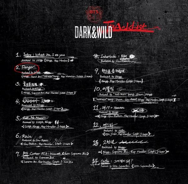 @bts_bighit <DARK&WILD> 트랙리스트와 함께 하는 앨범 프리뷰!* #Danger #방탄컴백 #D_1_쇼케이스
