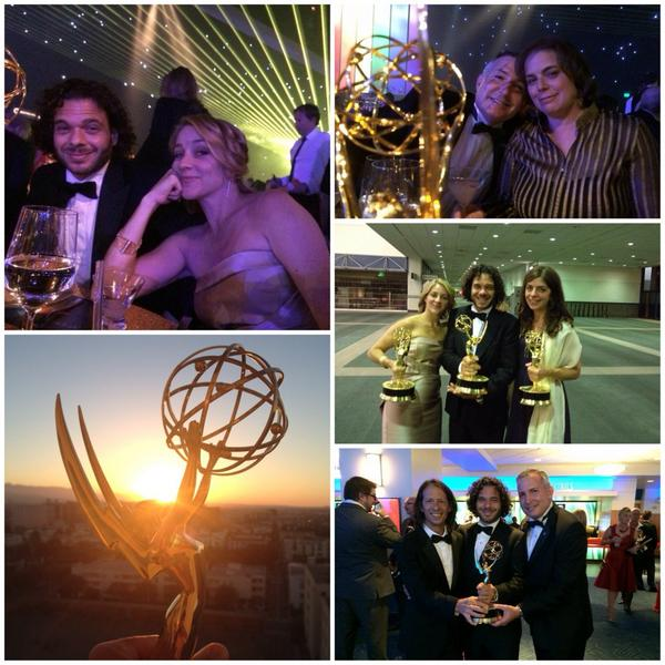 Amazing night with people we love. We miss you Sam.  #emmys #lifeaccordingtosam @hbo @Progeria @HBODocs http://t.co/0bvsNreAko