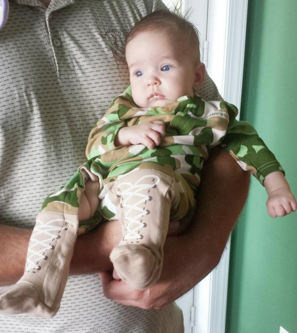 Camo baby. Support our troops. http://t.co/VwBPamnJRS