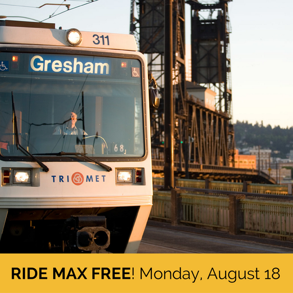 "MAX riders: It's been a rough week. As a ""thank you"" for your patience, we're offering free rides on MAX Monday 8/18. http://t.co/7FxONRO8pz"