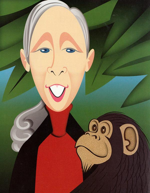Maria Popova On Twitter Jane Goodall Answers The Famous Proust - 10-celebrities-without-makeup-answers