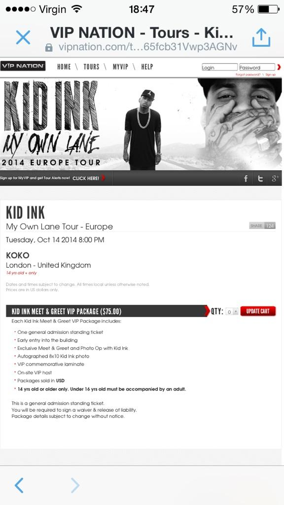 Kid ink on twitter europe vip meet greet tickets httpt 1 reply 0 retweets 0 likes m4hsunfo Gallery