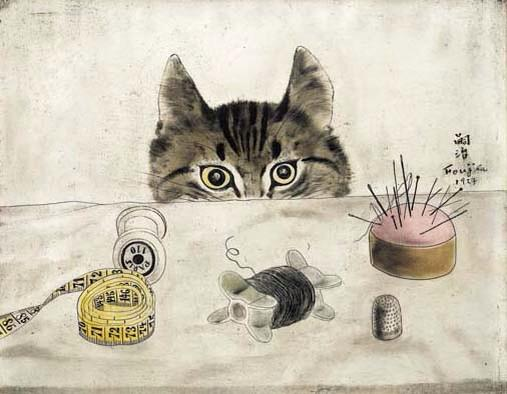 Love this 'Couturier Cat', Tsuguharu Foujita (藤田 嗣治), 1927 #art https://t.co/xQAFmLUdE5 RT @geminicat7 via @DaveAngela