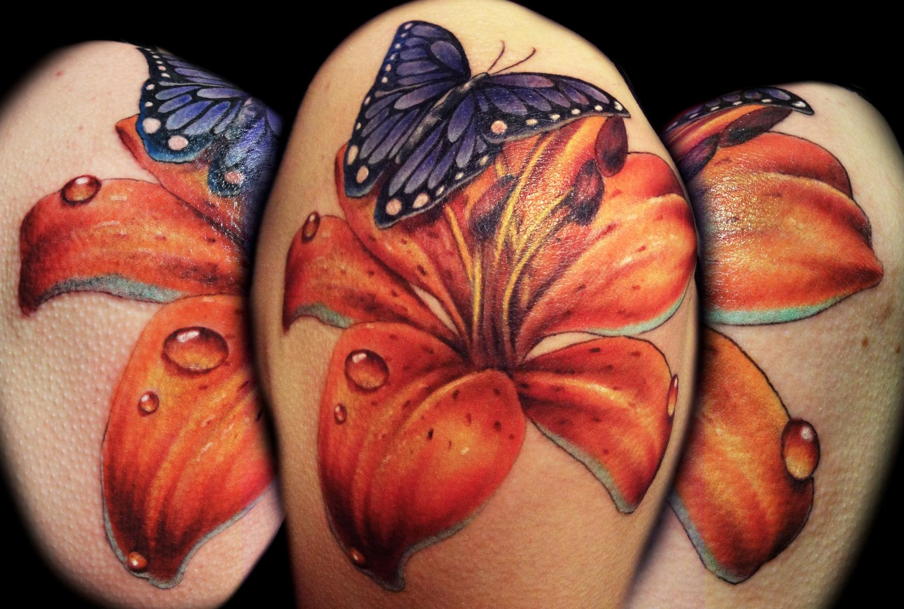 Image result for tiger lily tattoo