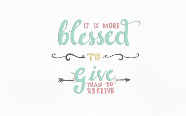 Image result for blessed to give than to receive