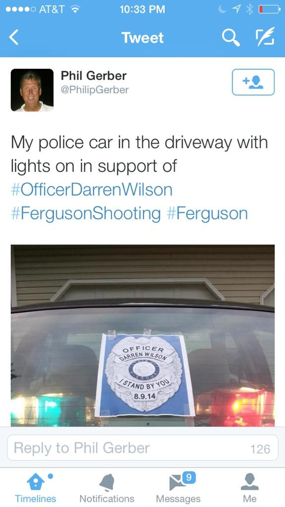 @FeministaJones and it doesn't help that cops are going on social media posting their support for Darren. Disgusting. http://t.co/t0zf6AcWAB