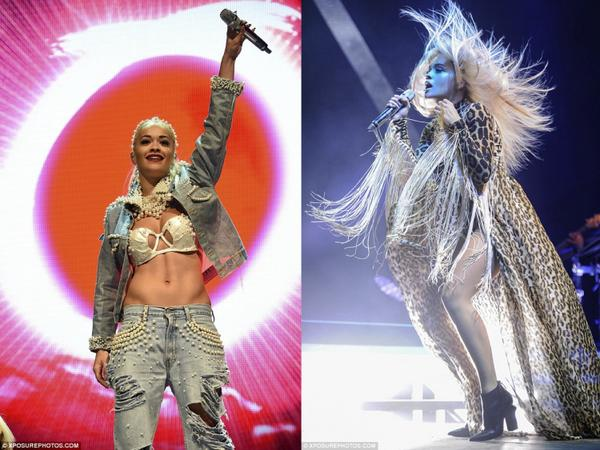 We loved these incredible custom made looks by @katieeary for @RitaOra seen at V Festival on both days http://t.co/6YUHy536uw