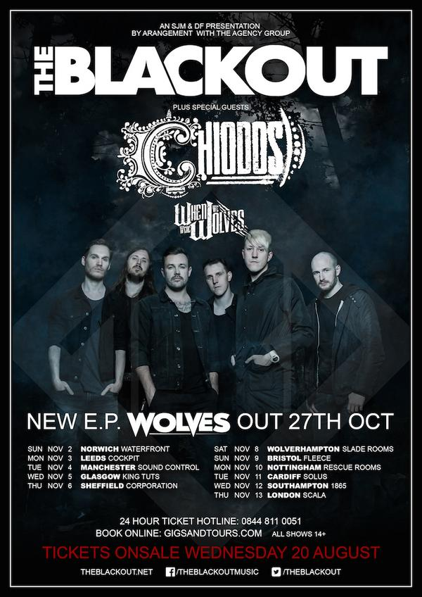 #Wolves tour The Blackout Chiodos @chiodos  When we were wolves @W4_Official http://t.co/677XYqJHA2