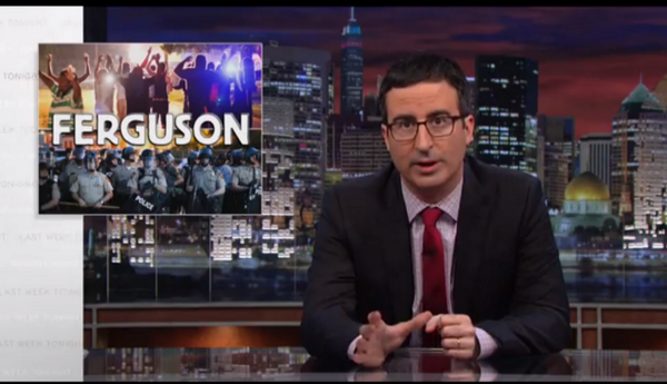 John Oliver's take on #Ferguson and the police is spot-on--WATCH: http://t.co/eAmH6rOdSr http://t.co/AxKyR2eqPO
