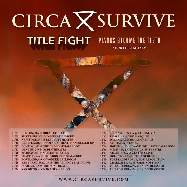 This November/December we are touring the US w/ @circasurvive & @pianosband. http://t.co/0GTHQv14u3 http://t.co/ShoKAS2lrT