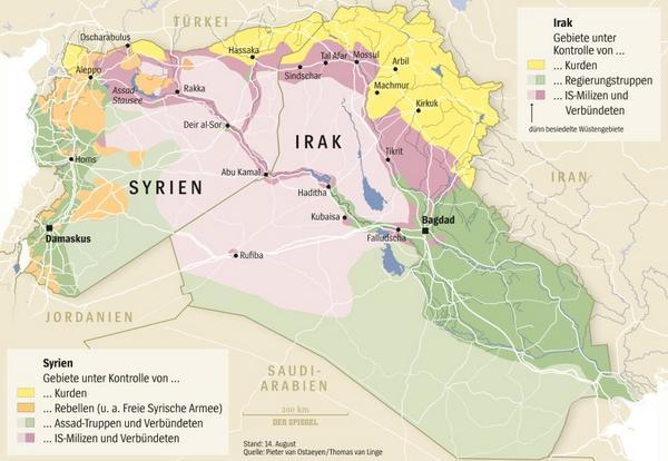 Syrien Irak Karte.Spiegel Online On Twitter Wer Kontrolliert Welche Gebiete Im Irak