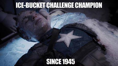 #CaptainAmerica - #IceBucketChallenge Champion since 1945! http://t.co/5lt7b5XvJX