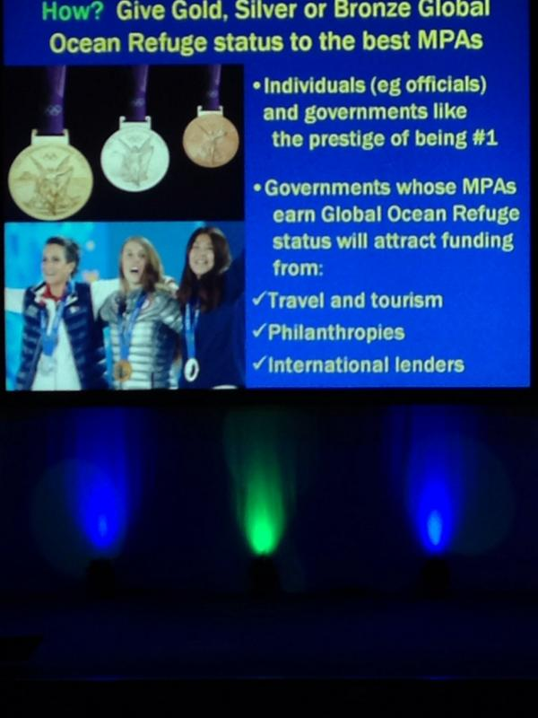 Elliot Norse on how to create incentive about GLORES among countries, e.g give Medals!  #IMCC3 http://t.co/8POMeyi1EN