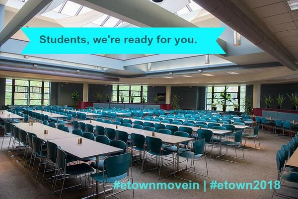 The Marketplace won't be this empty for too much longer! #etownmovein #etown2018 http://t.co/5lGhw2DRTl