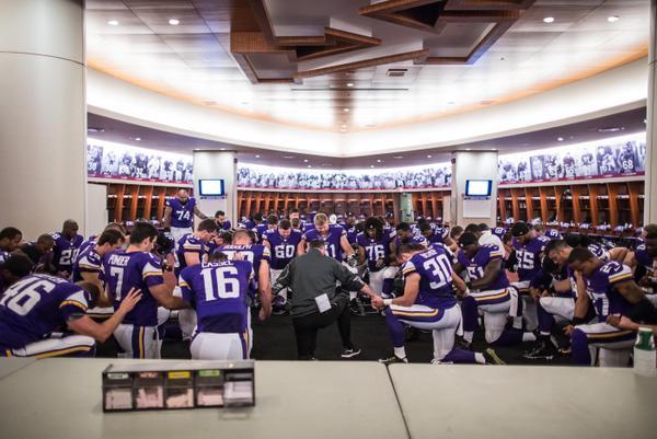 Saturday A Look Inside The Vikings Locker Room Before