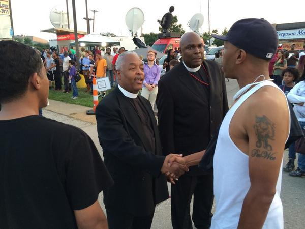 Group of 100 religious leaders working to keep the peace in #Ferguson. http://t.co/x5CI8HrQgb