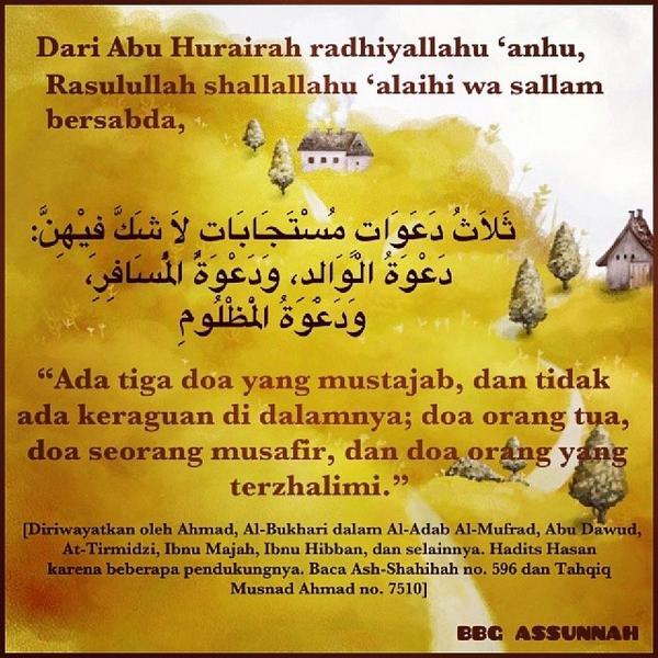 Wallpaper Islami Ar Twitter Tiga Doa Yng Tidak Ditolak 1 Doa